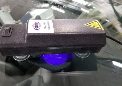Curing repair with ultraviolet lamp